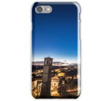sunset at the village iPhone Case/Skin
