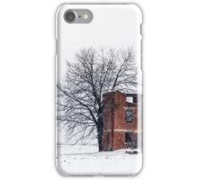 snow covering an abandoned farm iPhone Case/Skin
