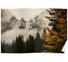 Autumn morning in the alps Poster