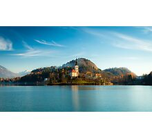morning at the lake of Bled Photographic Print