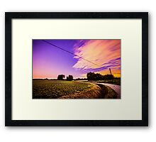 night in the fields Framed Print