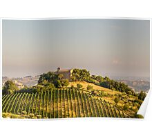 Sunset in the italian countryside Poster