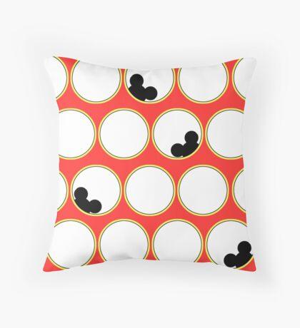 Peek-a-boo Mickey Throw Pillow