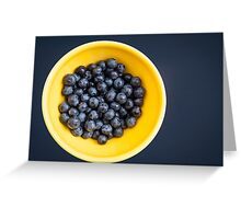 Blueberry Bowl Greeting Card