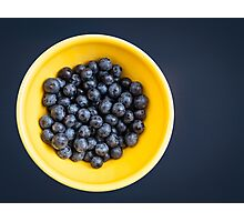 Blueberry Bowl Photographic Print