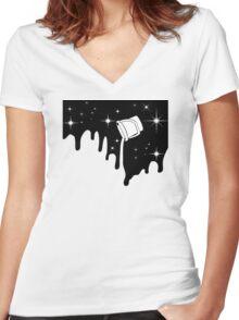 minimal  Women's Fitted V-Neck T-Shirt