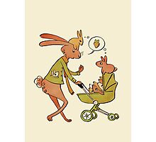 Incorrigibly Fatherly Rabbit Photographic Print