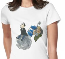 Moon and Satellite MorMor Womens Fitted T-Shirt