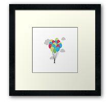 Colourful balloons Framed Print