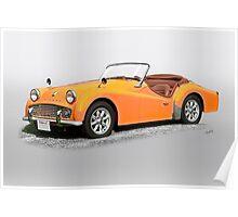 1960 Triumph TR3A Poster