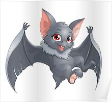 Cute Red Eyed Bat Poster