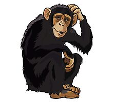 Chimpansee cartoon  Photographic Print