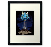 Shovel Yoga Knight Framed Print