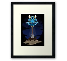 Shovel Yoga Knight Framed Print