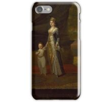 LADY MARY WORTLEY MONTAGU AND HIS SON EDWARD  By vanmour iPhone Case/Skin