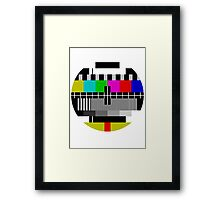 TV test Screen Framed Print