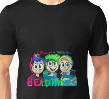 """""""My heroes don't need capes. They have headphones"""" Unisex T-Shirt"""