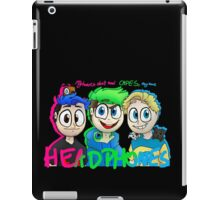 """""""My heroes don't need capes. They have headphones"""" iPad Case/Skin"""