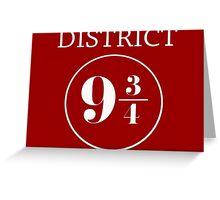 Fandom Crossover District 9 3/4 Greeting Card