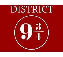Fandom Crossover District 9 3/4 Photographic Print