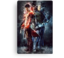 DmC Devil May Cry Twin brothers Canvas Print