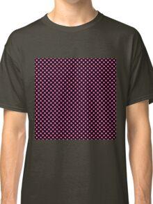 Small Hot Pink Irish Shamrock Clover on Black Classic T-Shirt