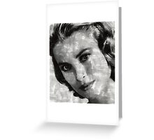 Grace Kelly by Mary Bassett Greeting Card