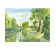 Templiner Kanal - Uckermark Art Print