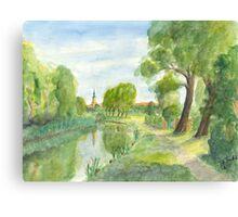 Templiner Kanal - Uckermark Canvas Print