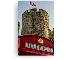 British Telephone box in Canterbury Canvas Print