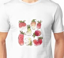 Watercolor Strawberries Unisex T-Shirt