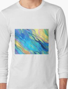 Color Waves Long Sleeve T-Shirt