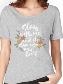 Stay with me Women's Relaxed Fit T-Shirt