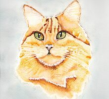 Portrait of a Ginger Cat by Ryan Conners