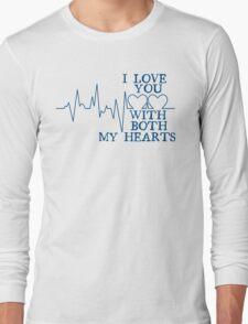 Nerd Valentines: Both my hearts. Long Sleeve T-Shirt