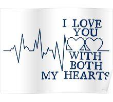 Nerd Valentines: Both my hearts. Poster