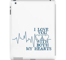 Nerd Valentines: Both my hearts. iPad Case/Skin