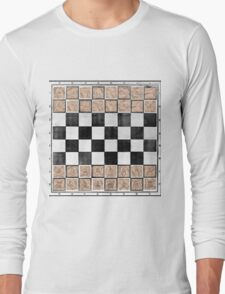Poor man 's chess Long Sleeve T-Shirt