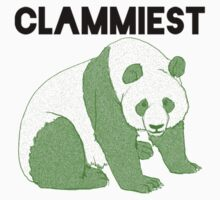 Clammiest Panda (Green) Kids Tee