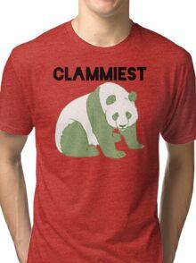 Clammiest Panda (Green) Tri-blend T-Shirt