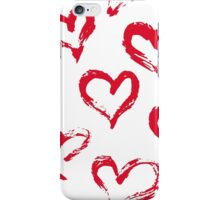Ink brush HEARTS iPhone Case/Skin