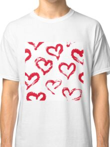 Ink brush HEARTS Classic T-Shirt
