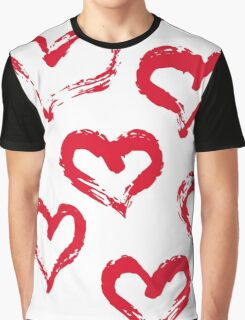 Ink brush HEARTS Graphic T-Shirt