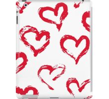Ink brush HEARTS iPad Case/Skin