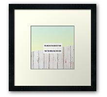 "one direction ""history"" design Framed Print"