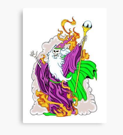 Skeleton Wizard Canvas Print