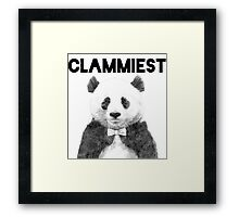 Clammiest Panda  Framed Print