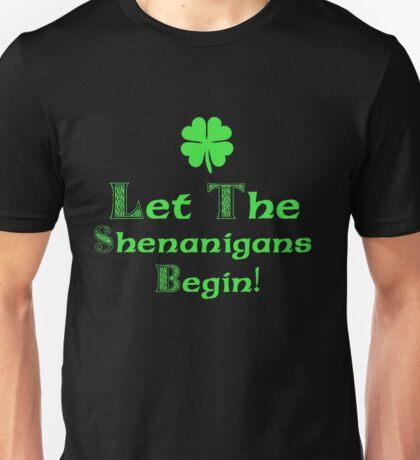 St Patrick's Day Shenanigans Irish Unisex T-Shirt