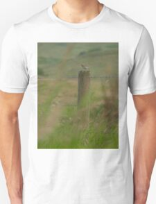 Sparrow on Fence Post T-Shirt