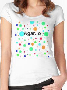 Agar.io logo Women's Fitted Scoop T-Shirt